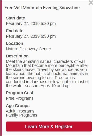 Free Vail Mountain Family Snowshoe Exploration