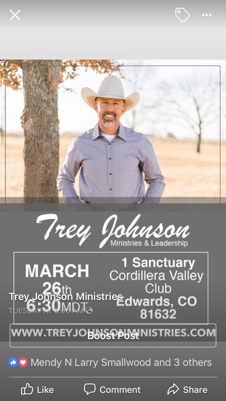 Pastor Trey Tuesday, March 26 6:30pm Please join us!