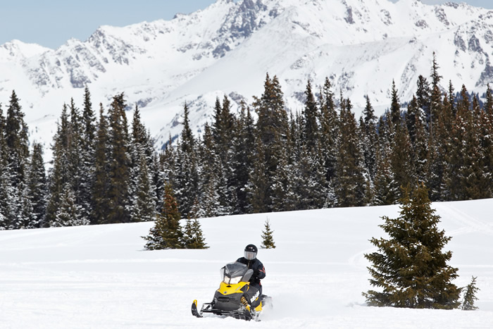 Snowmobiling in Vail, Colorado with Nova Guides